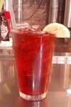 Herbal raspberry iced tea