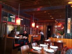 Inside El Toro Blanco's main dining area