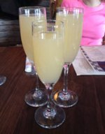 Grapefruit mimosas