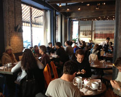 Busy brunch at Barraca