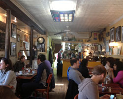 Busy brunch at Madame Claude