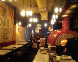 Inside Barrio's back dining room