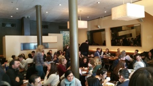 Buzzing during Saturday Brunch